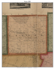 Exeter, Michigan 1859 Old Town Map Custom Print - Monroe Co.