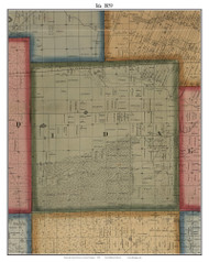 Ida, Michigan 1859 Old Town Map Custom Print - Monroe Co.