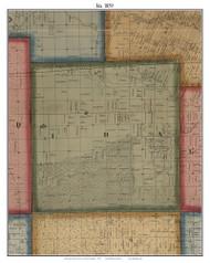 Ida, Michigan 1859 Old Town Map Custom Print - Monroe Co.