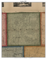 London, Michigan 1859 Old Town Map Custom Print - Monroe Co.
