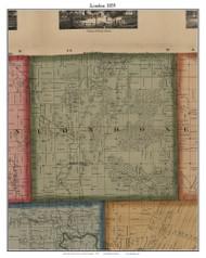 London, Michigan 1859 Old Town Map Custom Print - Monroe Co.