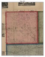 Milan, Michigan 1859 Old Town Map Custom Print - Monroe Co.