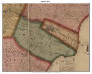 Monroe, Michigan 1859 Old Town Map Custom Print - Monroe Co.