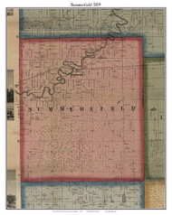 Summerfield, Michigan 1859 Old Town Map Custom Print - Monroe Co.