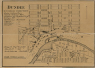 Dundee Village, Dundee, Michigan 1859 Old Town Map Custom Print - Monroe Co.