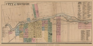 Monroe Village, Monroe, Michigan 1859 Old Town Map Custom Print - Monroe Co.