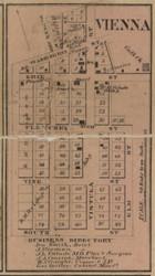 Vienna Village, Erie, Michigan 1859 Old Town Map Custom Print - Monroe Co.