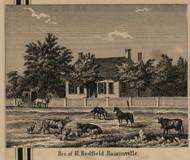 Redfield Residence, Raisinville, Michigan 1859 Old Town Map Custom Print - Monroe Co.