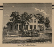 Corbin Residence, Petersburg, Summerfield, Michigan 1859 Old Town Map Custom Print - Monroe Co.