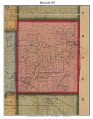 Blissfield, Michigan 1857 Old Town Map Custom Print - Lenawee Co.