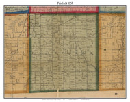 Fairfield, Michigan 1857 Old Town Map Custom Print - Lenawee Co.