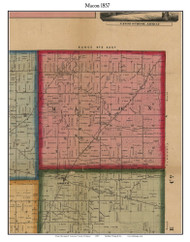 Macon, Michigan 1857 Old Town Map Custom Print - Lenawee Co.