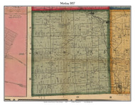 Medina, Michigan 1857 Old Town Map Custom Print - Lenawee Co.