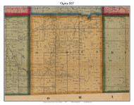 Ogden, Michigan 1857 Old Town Map Custom Print - Lenawee Co.