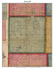 Rollin, Michigan 1857 Old Town Map Custom Print - Lenawee Co.
