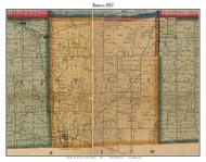 Seneca, Michigan 1857 Old Town Map Custom Print - Lenawee Co.
