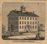 Union School, Adrian, Michigan 1857 Old Town Map Custom Print - Lenawee Co.