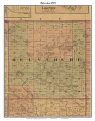 Belvidere, Michigan 1875 Old Town Map Custom Print - Montcalm Co.
