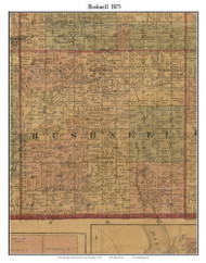 Bushnell, Michigan 1875 Old Town Map Custom Print - Montcalm Co.