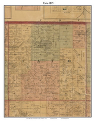 Cato, Michigan 1875 Old Town Map Custom Print - Montcalm Co.