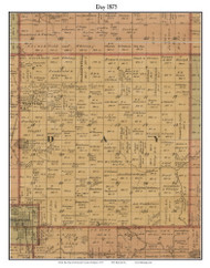 Day, Michigan 1875 Old Town Map Custom Print - Montcalm Co.