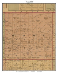 Home, Michigan 1875 Old Town Map Custom Print - Montcalm Co.
