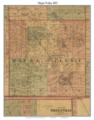 Maple Valley, Michigan 1875 Old Town Map Custom Print - Montcalm Co.
