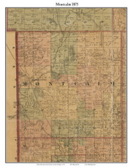Montcalm, Michigan 1875 Old Town Map Custom Print - Montcalm Co.