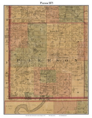 Pierson, Michigan 1875 Old Town Map Custom Print - Montcalm Co.