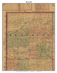 Reynolds, Michigan 1875 Old Town Map Custom Print - Montcalm Co.