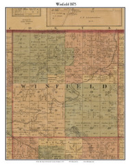 Winfield, Michigan 1875 Old Town Map Custom Print - Montcalm Co.