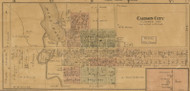 Carson City, Michigan 1875 Old Town Map Custom Print - Montcalm Co.