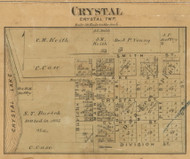 Crystal Village, Crystal, Michigan 1875 Old Town Map Custom Print - Montcalm Co.