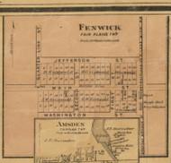 Fenwick Village, Fairplain, Michigan 1875 Old Town Map Custom Print - Montcalm Co.