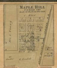Maple Hill Village, Pierson, Michigan 1875 Old Town Map Custom Print - Montcalm Co.