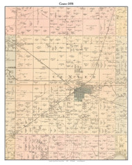 Center, Indiana 1898 Old Town Map Custom Print - Starke Co.