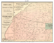 Davis, Indiana 1898 Old Town Map Custom Print - Starke Co.