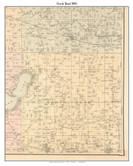 North Bend, Indiana 1898 Old Town Map Custom Print - Starke Co.