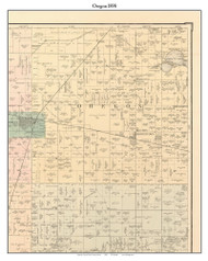 Oregon, Indiana 1898 Old Town Map Custom Print - Starke Co.