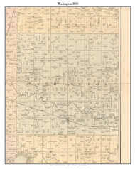 Washington, Indiana 1898 Old Town Map Custom Print - Starke Co.
