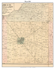 Wayne, Indiana 1898 Old Town Map Custom Print - Starke Co.