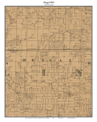 Bengal, Michigan 1864 Old Town Map Custom Print - Clinton Co.