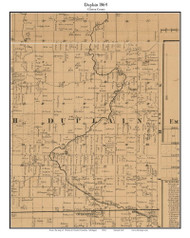 Duplain, Michigan 1864 Old Town Map Custom Print - Clinton Co.
