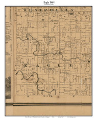 Eagle, Michigan 1864 Old Town Map Custom Print - Clinton Co.