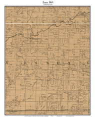 Essex, Michigan 1864 Old Town Map Custom Print - Clinton Co.