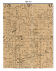 Olive, Michigan 1864 Old Town Map Custom Print - Clinton Co.