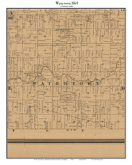 Watertown, Michigan 1864 Old Town Map Custom Print - Clinton Co.