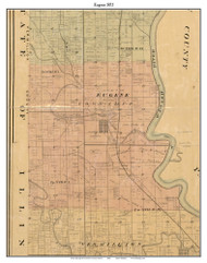 Eugene, Indiana 1872 Old Town Map Custom Print - Vermillion Co.