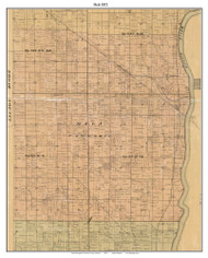 Helt, Indiana 1872 Old Town Map Custom Print - Vermillion Co.