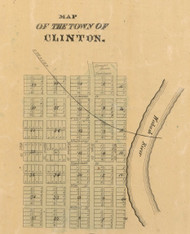 Clinton Village, Clinton, Indiana 1872 Old Town Map Custom Print - Vermillion Co.